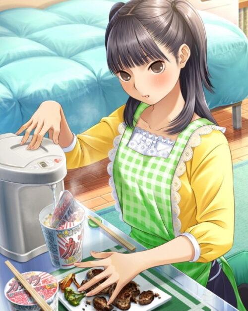 手料理はカップ麺